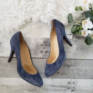 J.Crew blue suede Mona leather pumps size 10